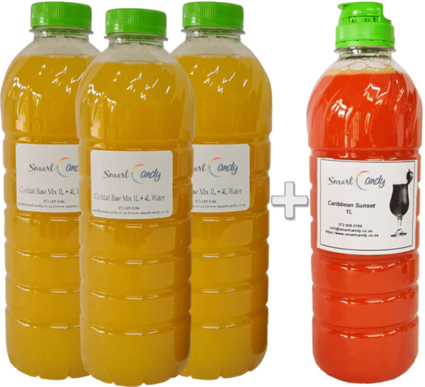 1L CARIBBEAN SUNSET Daiquiri Mix For Sale in South Africa | #1 BEST SEX ON THE BEACH COCKTAIL MIX Supplier