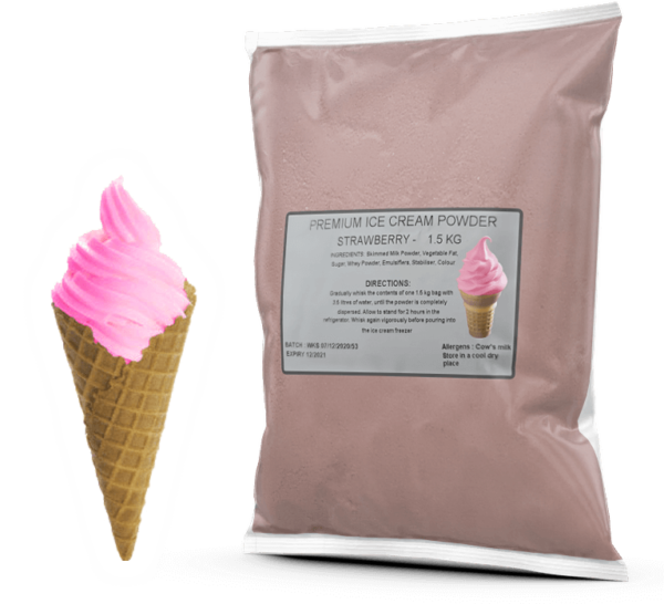 Strawberry Premium Soft Serve Powder Mix For Sale
