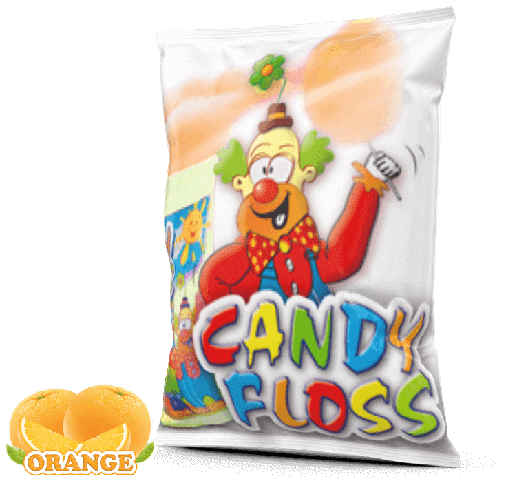 Candy Floss Sugar Orange For Sale In South Africa | #1 BEST Candy Floss Supplier Near Me In Pretoria